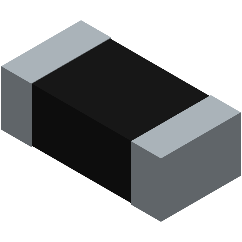 Vishay CRCW06031K00FKEAC (Resistor Chip) 3D model isometric projection.