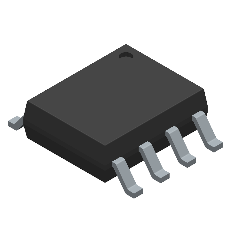 NXP TJA1050T/CM,118 (Small Outline Packages) 3D model isometric projection.