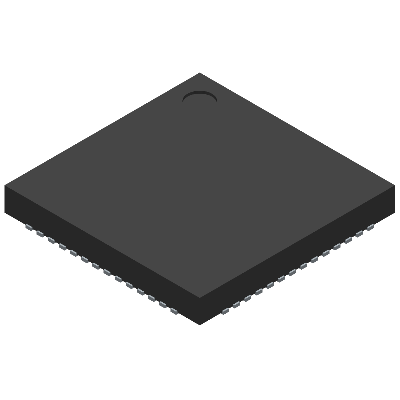 Espressif Systems ESP32-S2 (Quad Flat No-Lead) 3D model isometric projection.