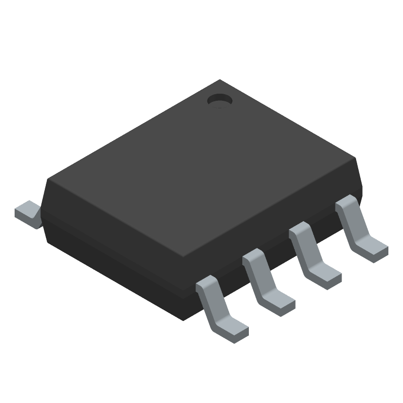 Diodes Inc. AP64501SP-13 (Small Outline Packages) 3D model isometric projection.