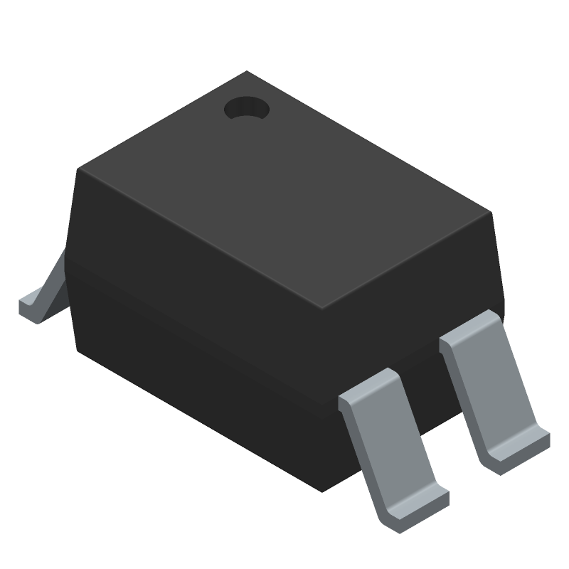 Sharp Microelectronics PC81713NIP1B (Small Outline Packages) 3D model isometric projection.