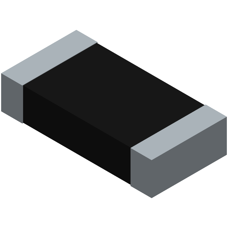 KOA Speer RN73H2BTTD1002B10 (Resistor Chip) 3D model isometric projection.