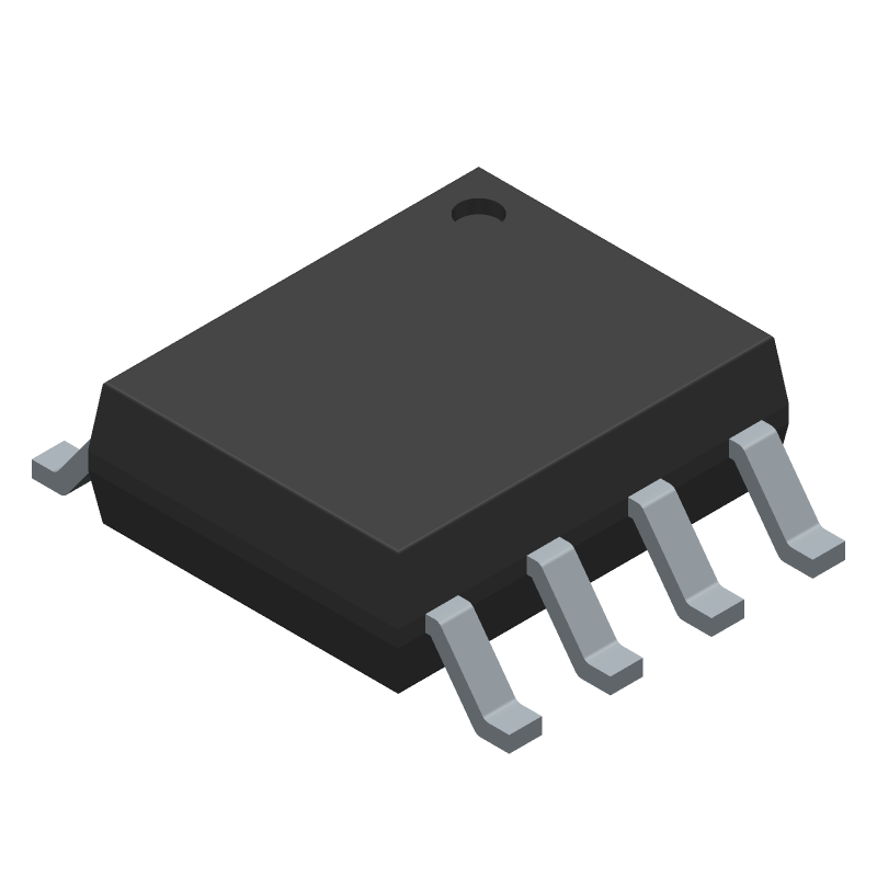 Texas Instruments ISO1044BDR (Small Outline Packages) 3D model isometric projection.