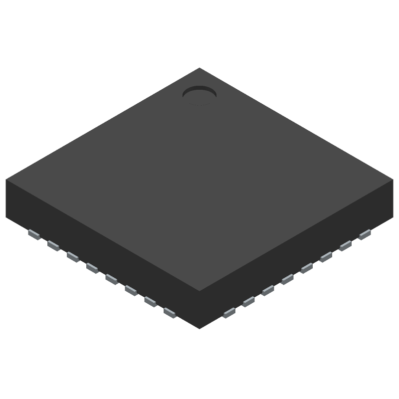 Espressif Systems ESP8266 (Quad Flat No-Lead) 3D model isometric projection.