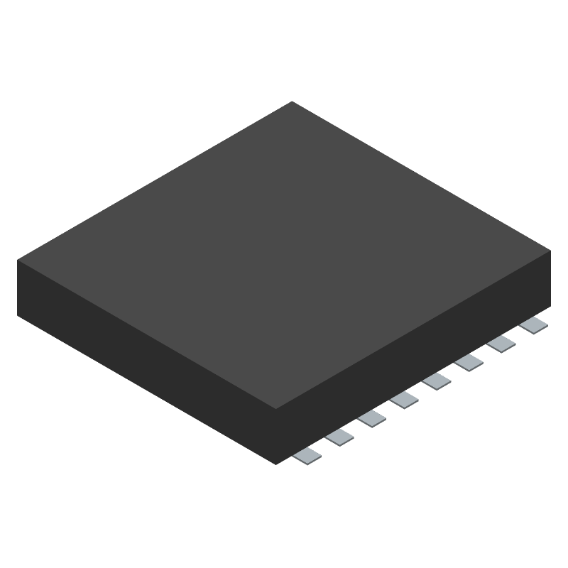 Ai-Thinker ESP8266 ESP-07 (Other) 3D model isometric projection.