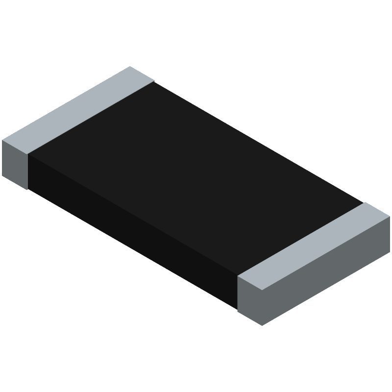 Bourns CR2512-F/-1R00ELF (Resistor Chip) 3D model isometric projection.