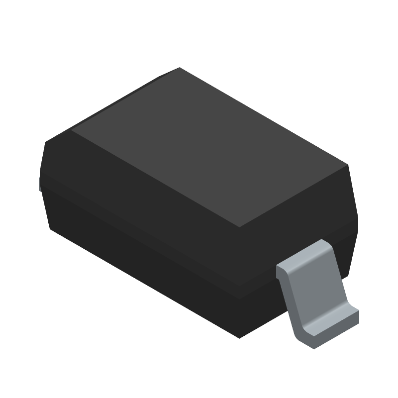 ON Semiconductor MBR0520LT1G (Small Outline Diode) 3D model isometric projection.