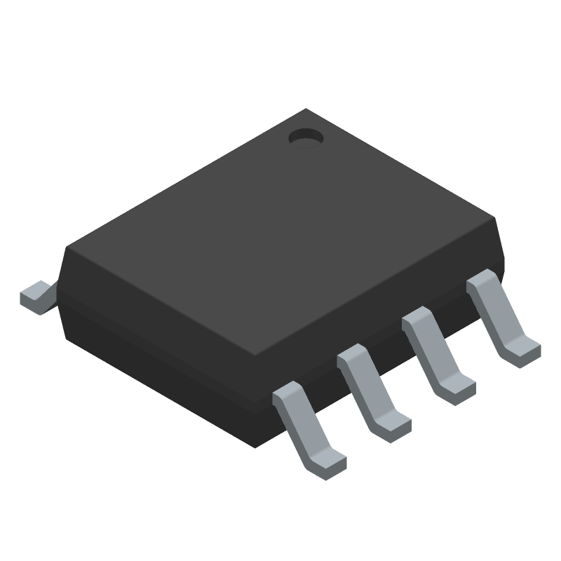 Texas Instruments LM5164DDAT (Small Outline Packages) 3D model isometric projection.