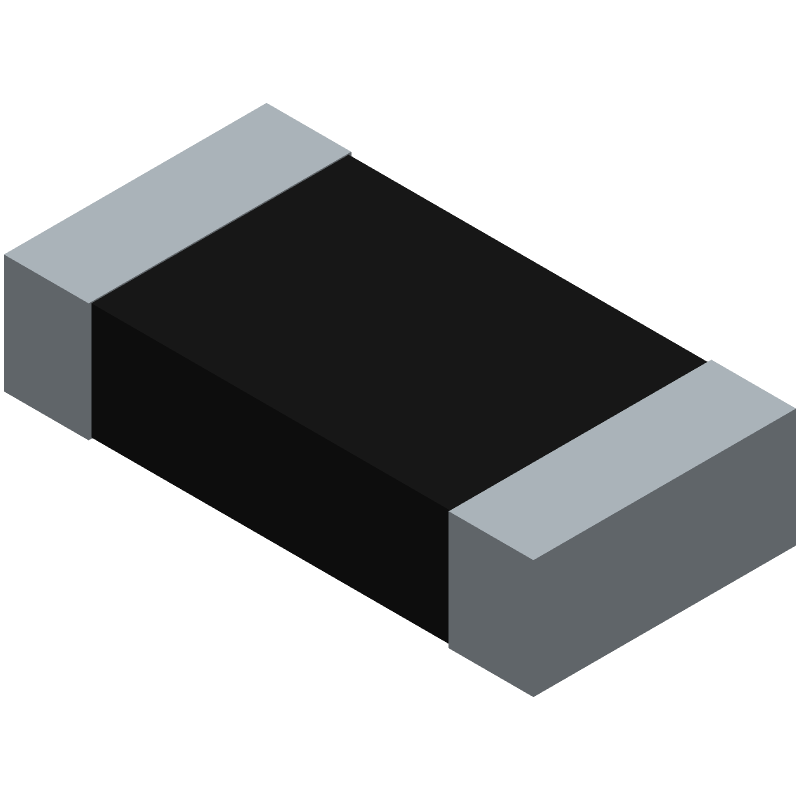 Panasonic ERJP08F2001V (Resistor Chip) 3D model isometric projection.