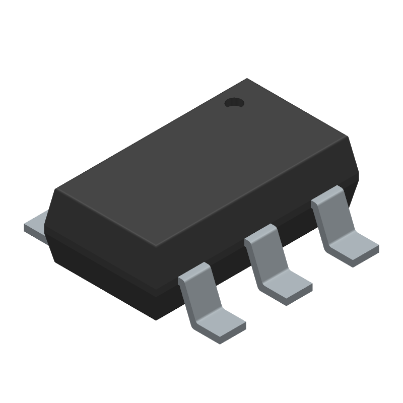Diodes Inc. AP63205WU-7 (SOT23 (6-Pin)) 3D model isometric projection.