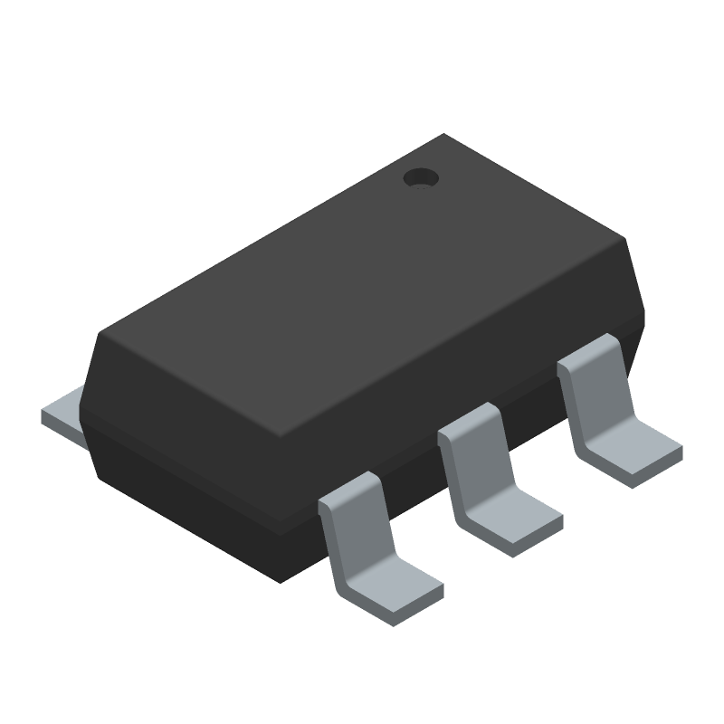 Texas Instruments TPS56339DDCR (SOT23 (6-Pin)) 3D model isometric projection.