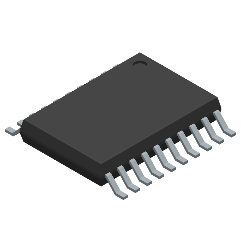 STMicroelectronics STM8S003F3P6 (Small Outline Packages) 3D model isometric projection.