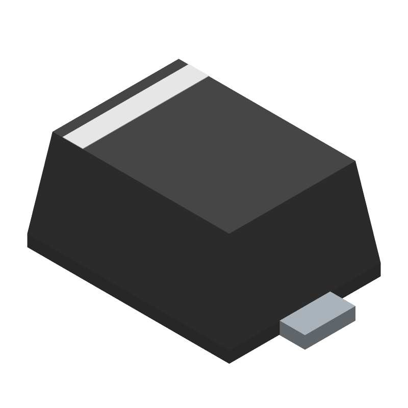 ON Semiconductor ESD9B5.0ST5G (Small Outline Diode Flat Lead) 3D model isometric projection.
