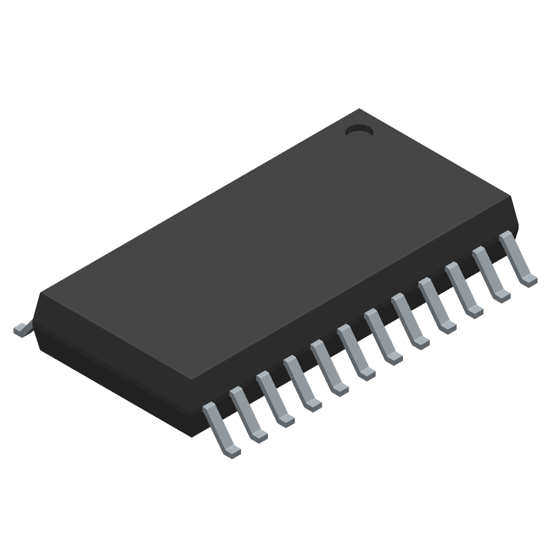 ON Semiconductor MC33035DWG (Small Outline Packages) 3D model isometric projection.