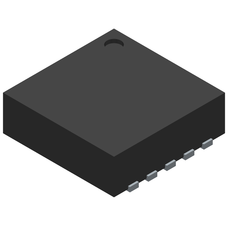 Texas Instruments TPS51200DRCR (Small Outline No-lead) 3D model isometric projection.