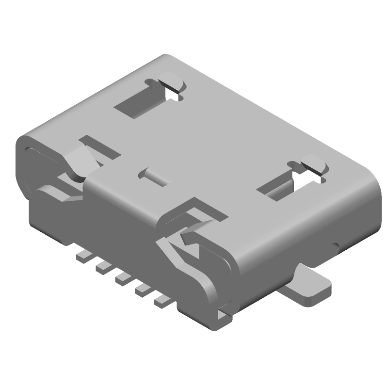 Molex 47346-0001 (Other) 3D model isometric projection.