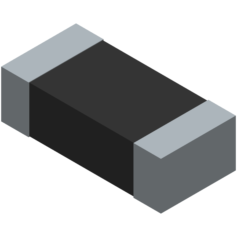Bourns CD1206-S01575 (Diodes Chip) 3D model isometric projection.