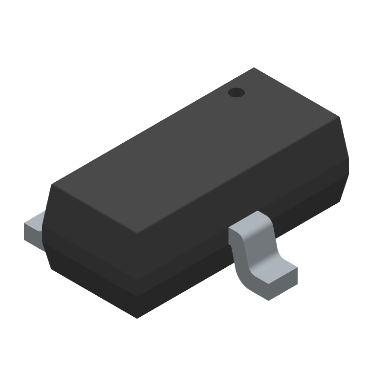 Galaxy S8050G (SOT23 (3-Pin)) 3D model isometric projection.