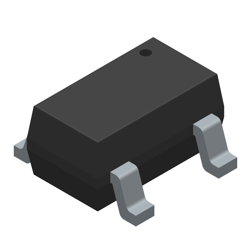 STMicroelectronics STMPS2151STR (SOT23 (5-Pin)) 3D model isometric projection.