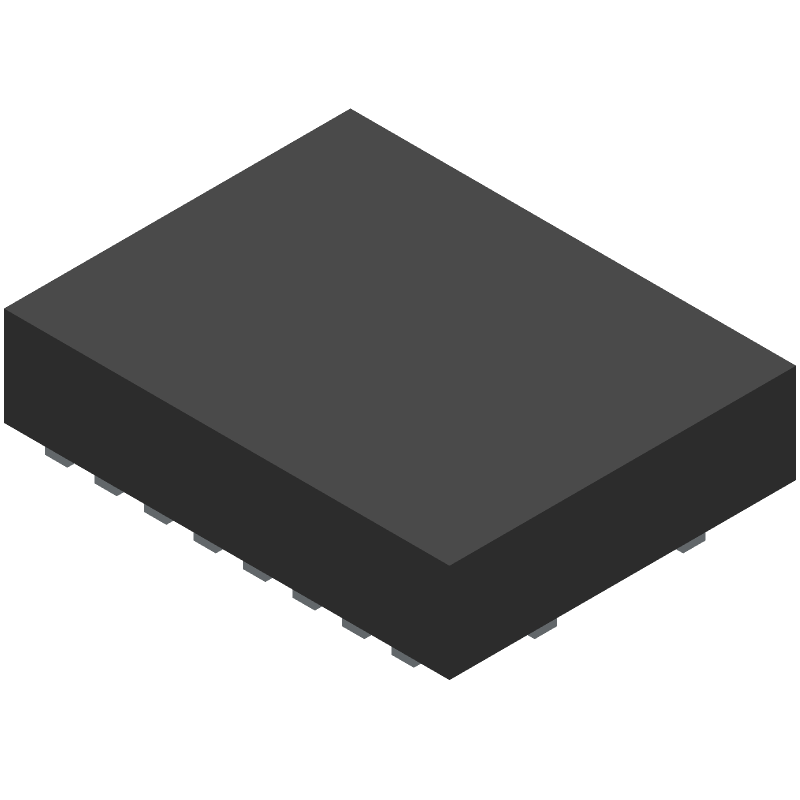 Texas Instruments TXB0108RGYR (Other) 3D model isometric projection.
