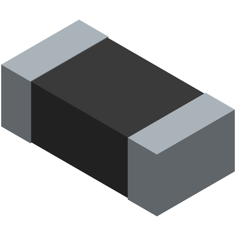 Bourns CG0603MLC-05E (Varistors Chip) 3D model isometric projection.