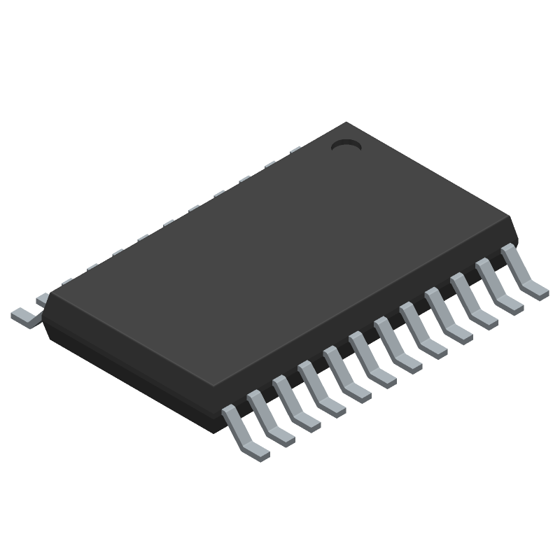 Texas Instruments TCA9548APWR (Small Outline Packages) 3D model isometric projection.