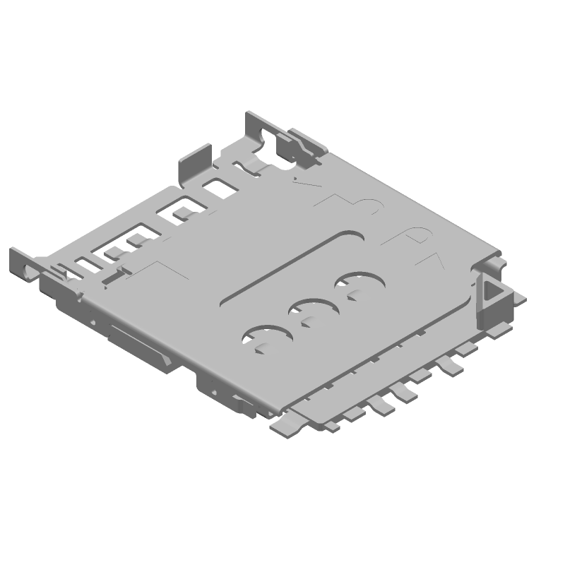 Molex 78800-0001 (Other) 3D model isometric projection.
