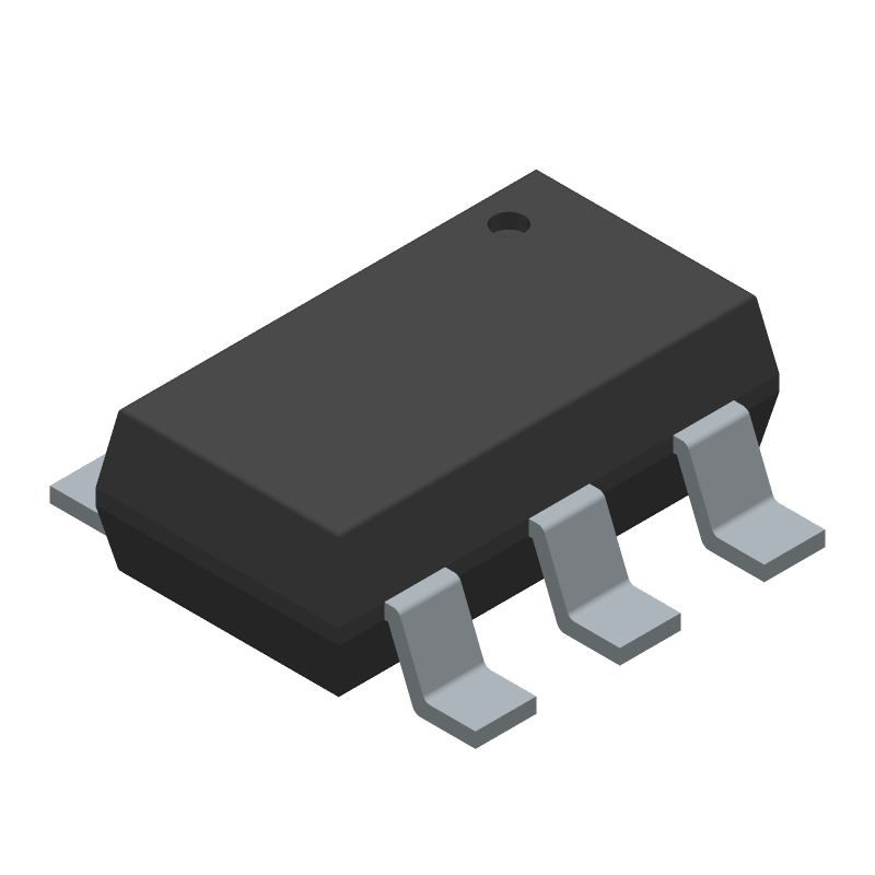 Monolithic Power Systems (MPS) MP2359DJ-LF-Z (SOT23 (6-Pin)) 3D model isometric projection.