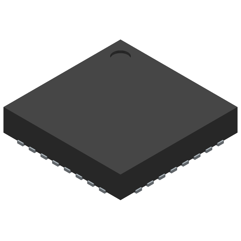 Cypress Semiconductor CY7C65213-32LTXI (Quad Flat No-Lead) 3D model isometric projection.