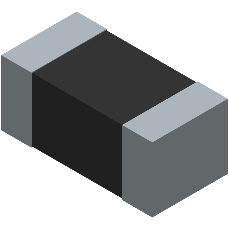 LITTELFUSE PESD0402-140 (Diodes Chip Non-polarised) 3D model isometric projection.