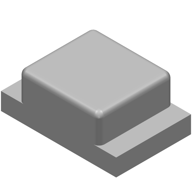 OSRAM LH R974-LP-1 (LEDs Chip) 3D model isometric projection.