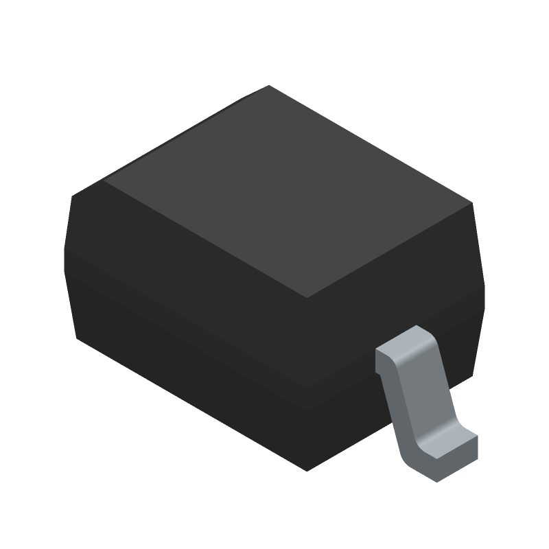 Vishay 1N4148WS-E3-18 (Small Outline Diode) 3D model isometric projection.