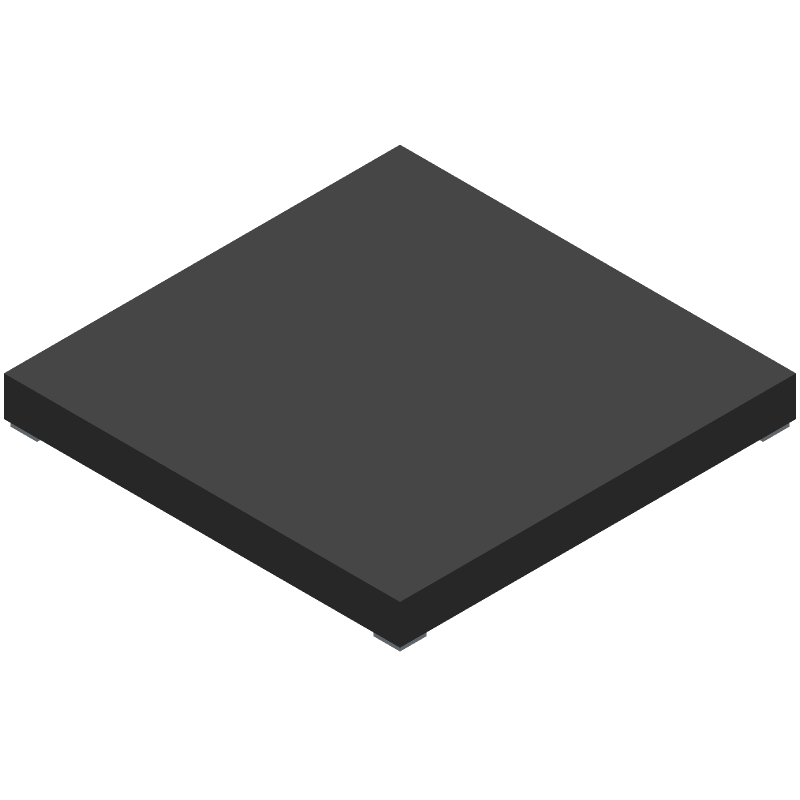 Microchip PIC24FJ256GA705-I/M4 (Other) 3D model isometric projection.