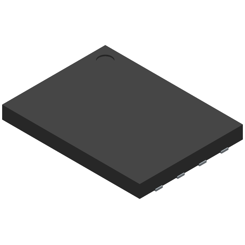 Cypress Semiconductor S25FL128SAGNFV000 (Small Outline No-lead) 3D model isometric projection.