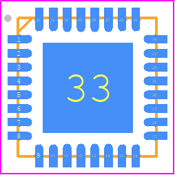 PCB Footprint for ATMEGA328P-MU